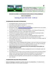 Zaterdag 23 maart 2013 10:00 – 12:00 uur - De Zandweerd