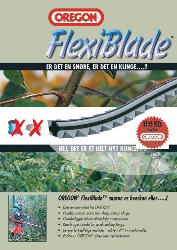 OREGON® FlexiBlade™ snøren er hverken eller ... - Skovvaerktoej.dk