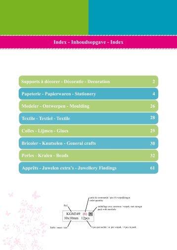 Index - Inhoudsopgave - Index