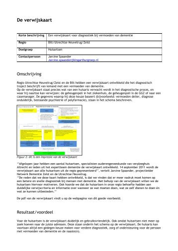 De verwijskaart Netwerk Dementie Zeist en Utrechtse ... - Vilans