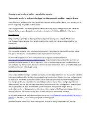 Dræning og oprensning af grøfter – pas på okker og ... - LandboSyd