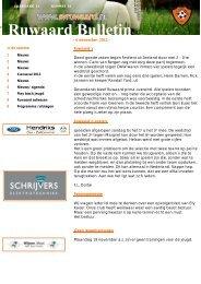 Ruwaard bulletin nummer 14 met de datum 06-11-2012 - sv Ruwaard