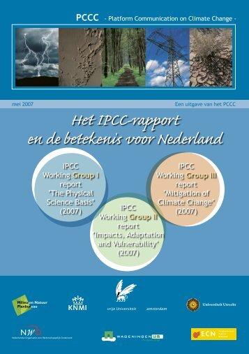 Het IPCC rapport en de betekenis voor Nederland (pdf) - Marcel Stive