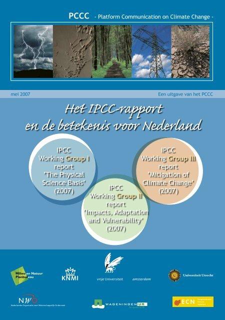 Het Ipcc Rapport En De Betekenis Voor Nederland Pdf Marcel Stive