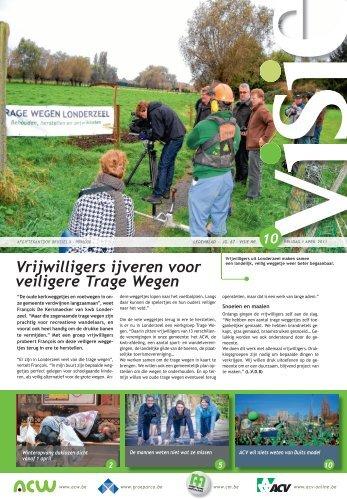 Vrijwilligers ijveren voor veiligere Trage Wegen - ACV