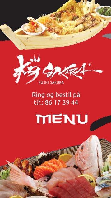 Menukort - Sushi Sakura
