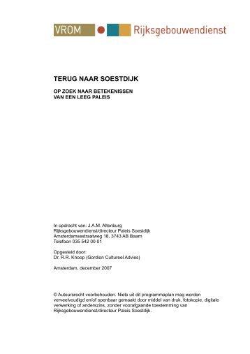 Essay Terug naar Soestdijk - Rijksgebouwendienst