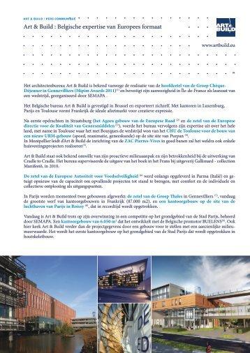 Belgische expertise van Europees formaat - Art and Build Architect
