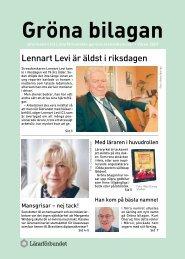 Lennart Levi är äldst i riksdagen - Lärarförbundet