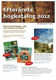 Efterårets bogkatalog 2012 - Byggecentrum