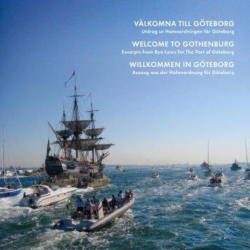 välkomna till göteborg welcome to gothenburg ... - Göteborgs hamn