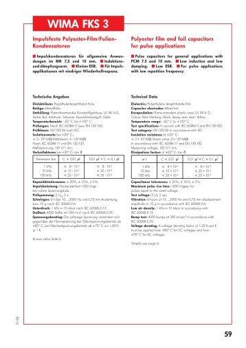 WIMA Film/Foil Capacitors in PCM 7.5 - 15 mm - ELTRON