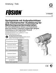 310628S - Fusion Spray Gun, Instructions-Parts, German