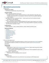 Mycoplasma pneumoniae - ARUP Consult