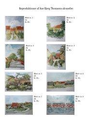Reproduktioner af Ane Bjerg Thomsens akvareller