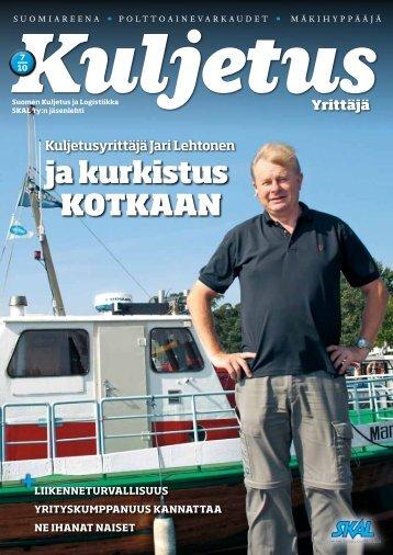 Lehden sisältöä 7/2010 (pdf) (2 MB) - SKAL