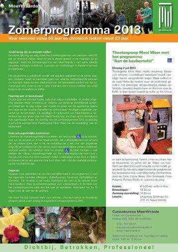 Bekijk het Zomerprogramma 2013 (PDF) - Meerwaarde
