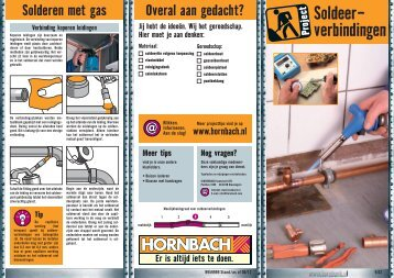 Soldeer- verbindingen - Hornbach