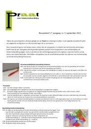 Nieuwsbrief 2 jaargang nr. 7, september 2012 - Praat