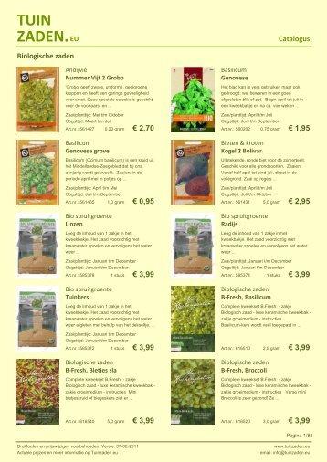 Catalogus - Tuinzaden.eu