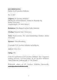 Jacobseniana, nr. 2 - J. P. Jacobsen Selskabet - Aarhus Universitet