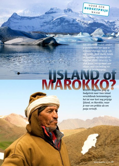 Budgetreis naar IJsland & Marokko - REIZEN Magazine
