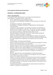 Pagina 1 van 9 Privacyreglement Stichting Utrecht Bereikbaar ...