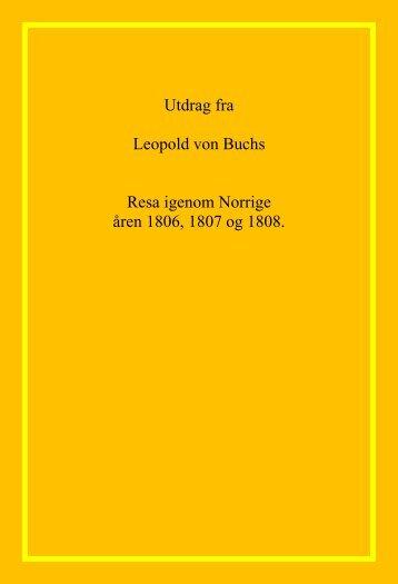 Leopold von Buchs resa igenom Norrige åren ... - Lenvik Museum