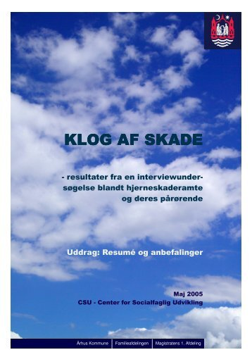 KLOG AF SKADE KLOG AF SKADE - Servicestyrelsen