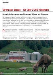 Strom aus Biogas - IWK Integrierte Wärme Kraft AG