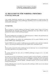 Gemensamt reglemente för utställningar i Norden - Sveriges ...