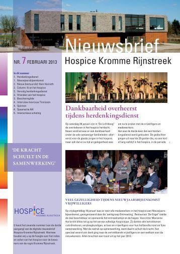 nieuwsbrief nr.7 februari 2013 - Hospice Kromme Rijnstreek