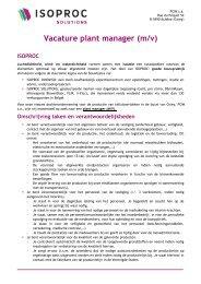 Vacature plant manager (m/v)