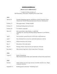 Holocaust Chronology - ProseProductionsInk