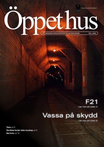 Öppet hus nr 2 2009 (.pdf) - Fortifikationsverket