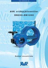 AVK vridspjällventiler DN200–DN1200 - avk sverige ab