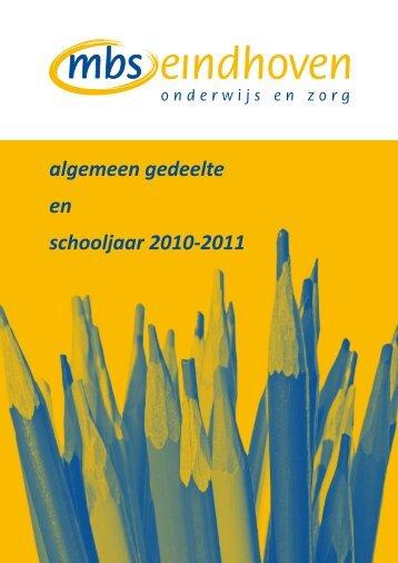 algemeen gedeelte en schooljaar 2010-2011 - SSOE