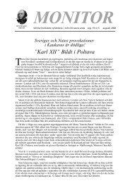 """Karl XII"""" Bildt i Poltava - LaRouche.se"""