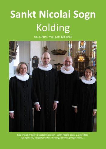 Kirkeblad nr. 2, april - juli 2013 - Sankt Nicolai Sogn