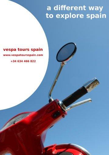 Brochure - Vespa Tours Spain Malaga