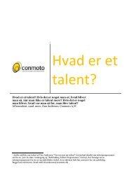 Hvad er et talent? - FUHU
