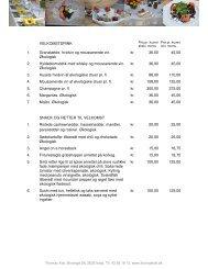 VELKOMSTDRINK 1. Granatæble, hvidvin og ... - Thomas Kok