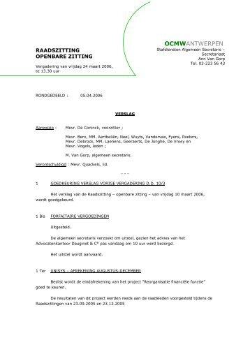 verslag - ocmw antwerpen