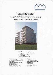 Mieterinformation - Baugenossenschaft Wiehl
