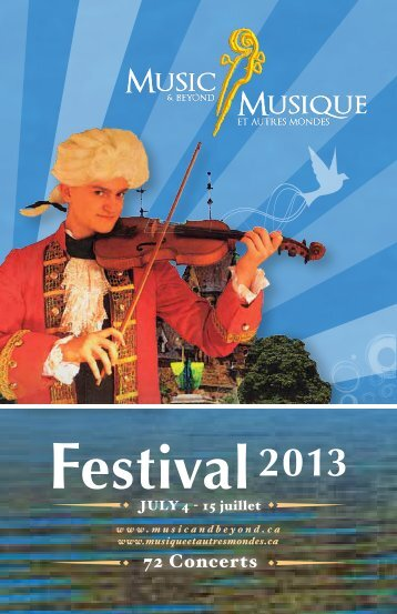 Brochure 2013 - Music & Beyond