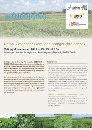 Uitnodiging demonstratiedag Zwalm over - Prosensols