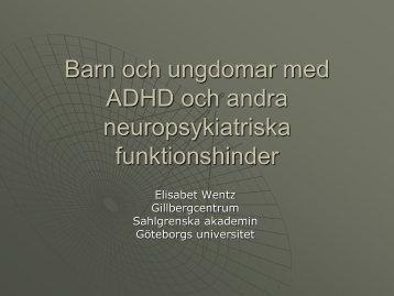 Neuropsykiatriska störningar och dess funktionshinder