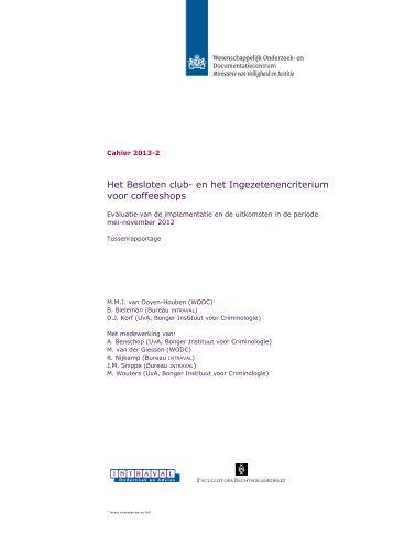 Het Besloten club- en het Ingezetenencriterium ... - Tweede Kamer