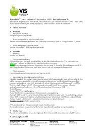 Protokoll ViS styrelsemöte 9 december 2011 i Stockholm (nr 6)
