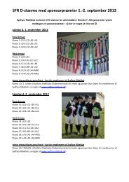 SFR D-stævne med sponsorpræmier 1.-2 ... - Sydfyns Rideklub